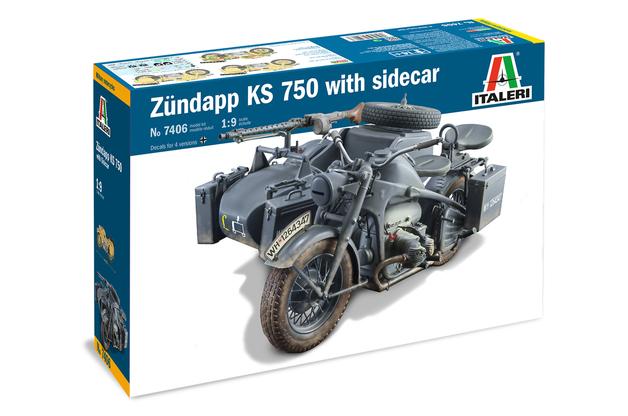 Italeri: 1/9 Zündapp KS750 with Sidecar - Model Kit