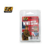 AK WW1 British Uniform Colours Paint Set