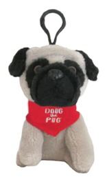 Doug The Pug: Backpack Clip (Red)