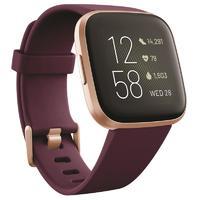 Fitbit Versa 2 Health & Fitness Smartwatch - Bordeaux/Copper Rose