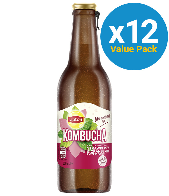 Lipton: Kombucha - Strawberry & Cranberry 330ml (12 Pack) image