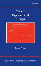 Modern Experimental Design by Thomas P Ryan image