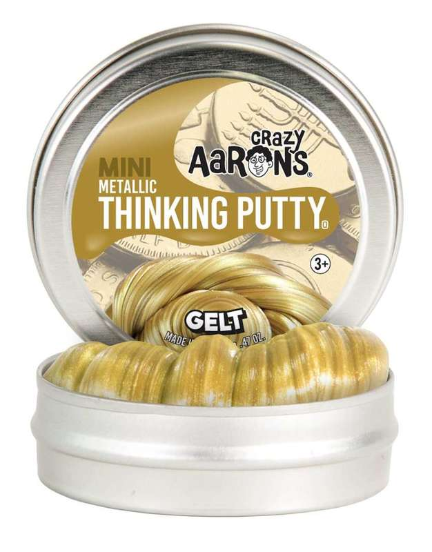 Crazy Aarons Thinking Putty: Gelt - Mini Tin