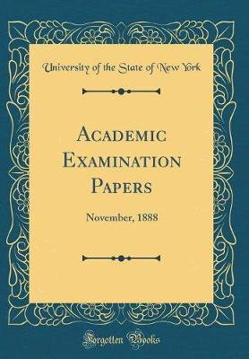 Academic Examination Papers by University of the State of New York