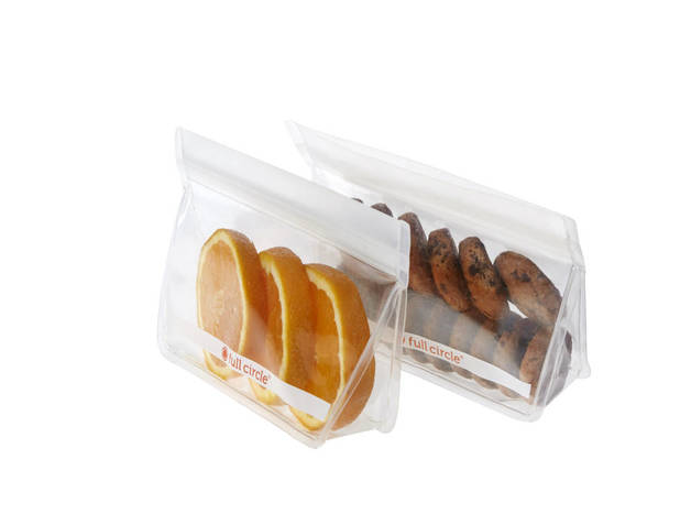 Full Circle: Reusable Snack Bags – Clear (Set/2)