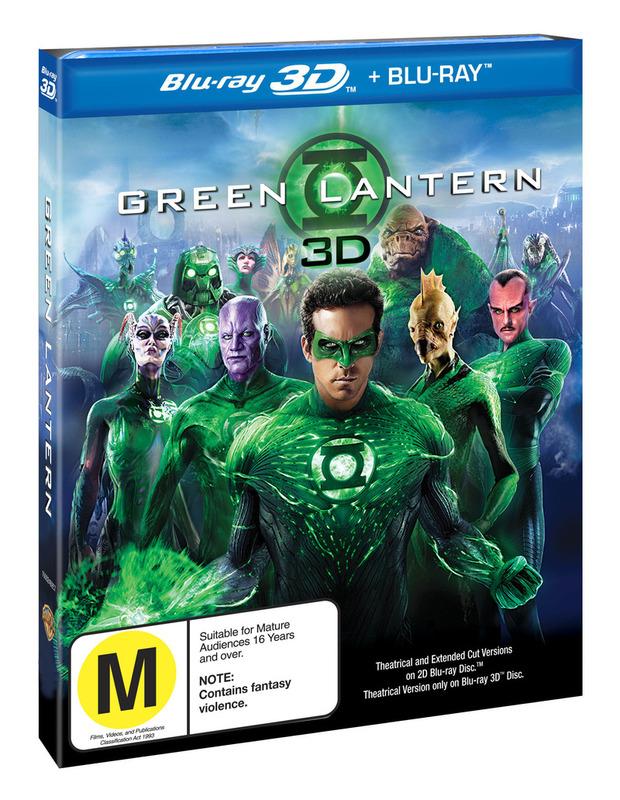 Green Lantern 3D + Blu Ray on Blu-ray, 3D Blu-ray