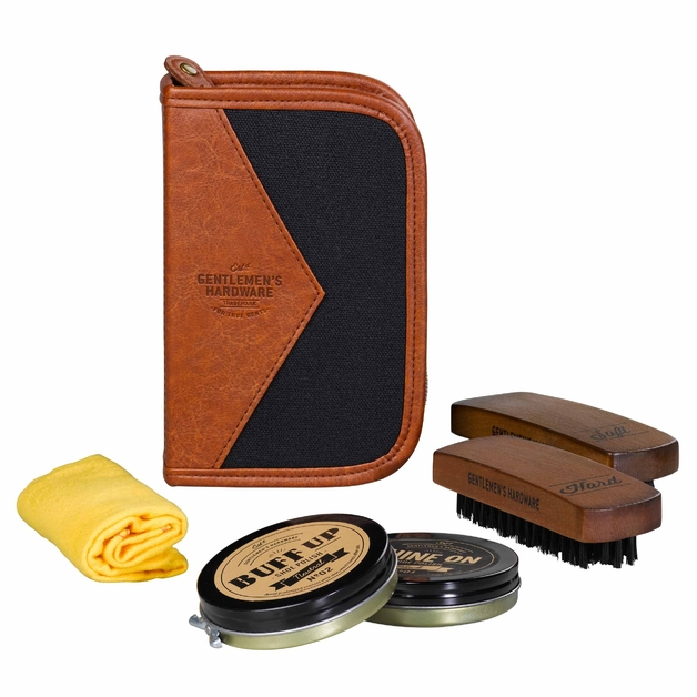 Gentlemen's Hardware: Charcoal Shoe Shine Kit
