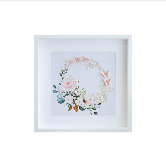 Large White Frame (Floral Halo Circle)