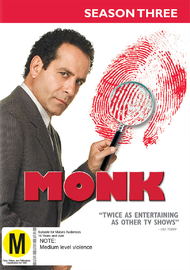 Monk - Season 3 on DVD