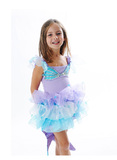 Fairy Girls - Sparkle Mermaid Dress (Medium, age 4-6)