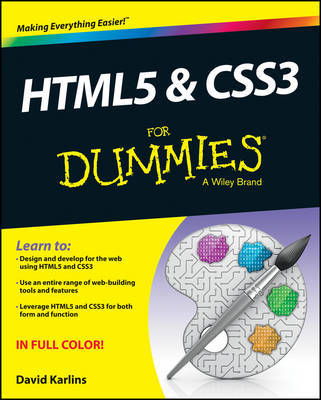 HTML5 and CSS3 For Dummies by David Karlins image