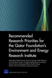 Recommended Research Priorities for the Qatar Foundation's Environment and Energy Research Institute by Nidhi Kalra