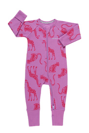 Bonds Ribby Zippy Wondersuit - Animal Party Magic Violet (3-6 Months)