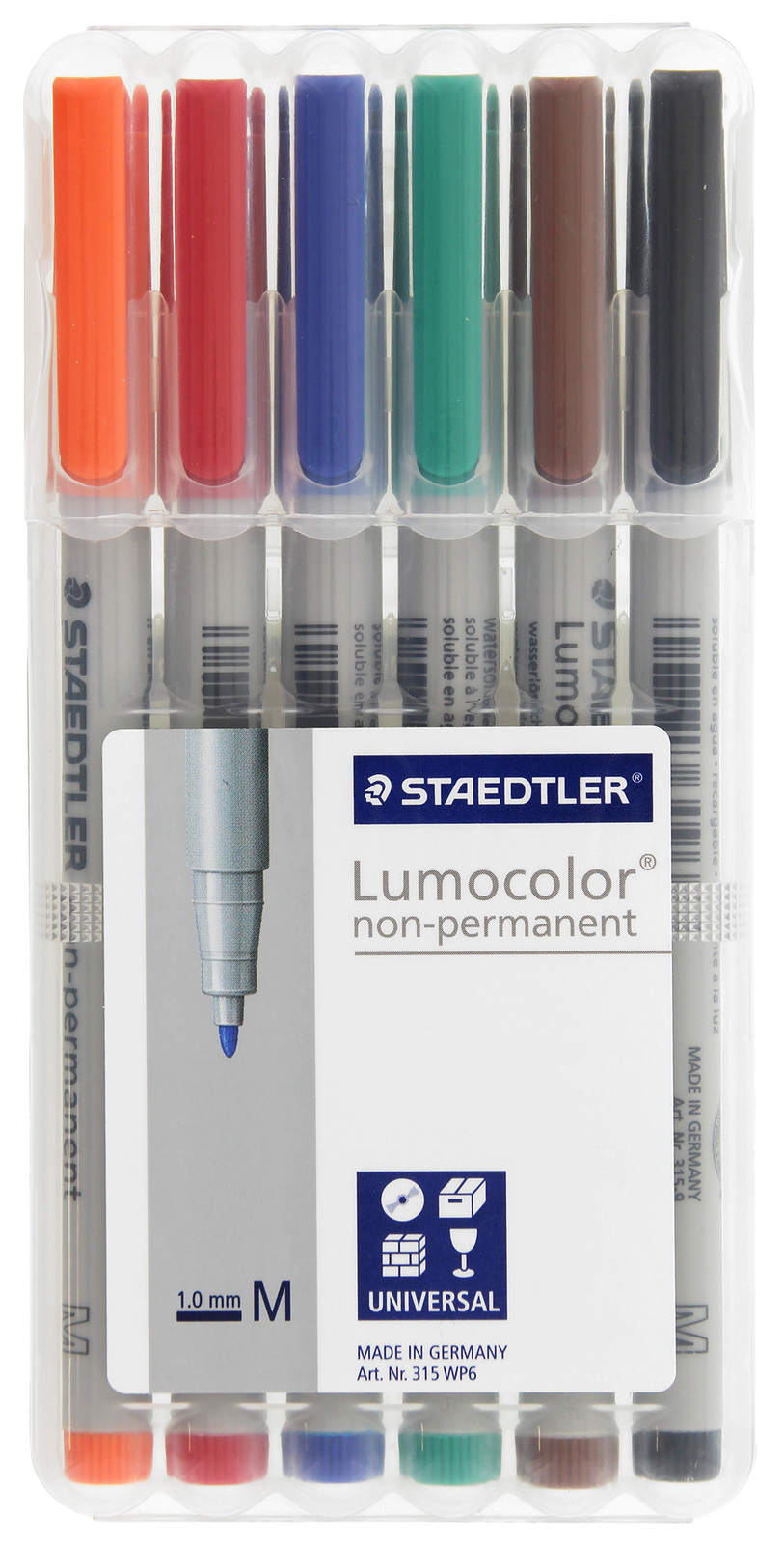 Chessex Color Water Soluble Markers 6 Pack image