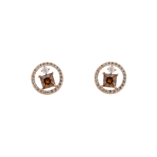 Short Story: Earring Ethereal Circle Rose Gold