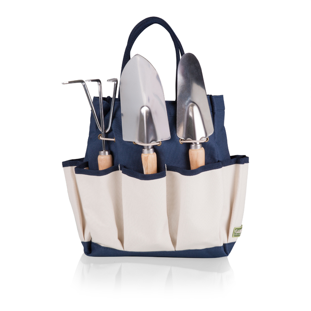 Picnic Time: Garden Tote with Tools (Navy & Beige)