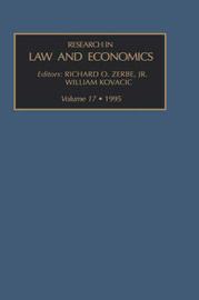 Research in Law and Economics: v. 17 image