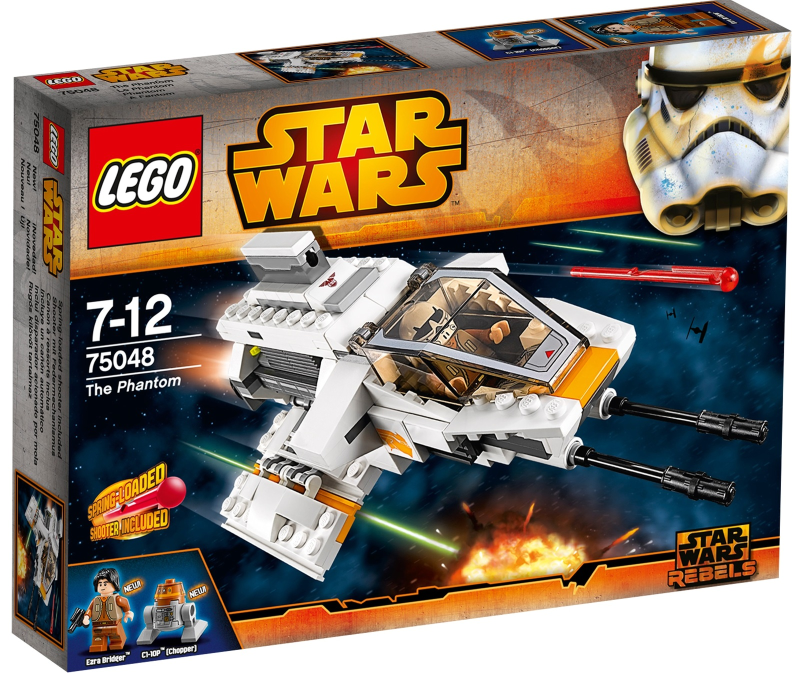 LEGO® brick STAR WARS™ REBELS 75048 EZRA BRIDGER Minifigure Helmet /& Blaster