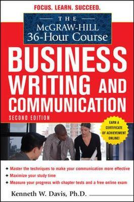The McGraw-Hill 36-Hour Course in Business Writing and Communication, Second Edition by Kenneth Davis image