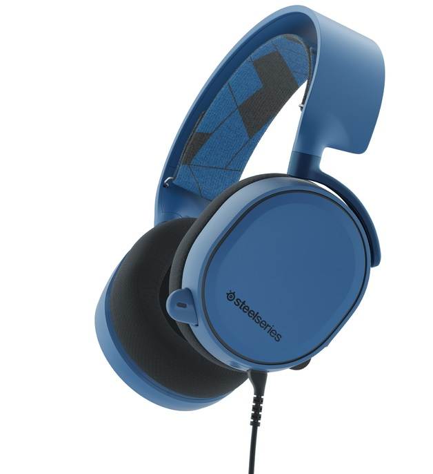 SteelSeries Arctis 3 Wired Gaming Headset (Boreal Blue) for PC Games