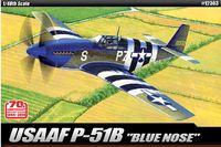 "Academy USAAF P-51B ""Blue Nose"" 1/48 Model Kit"