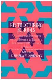 Restructuring Schools by W. Lowe Boyd image