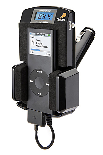 Cygnett GROOVETRAVELLER BLACK - IPOD FM TRANSMITTER + HOLDER image