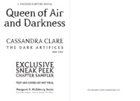 Queen of Air and Darkness by Cassandra Clare image