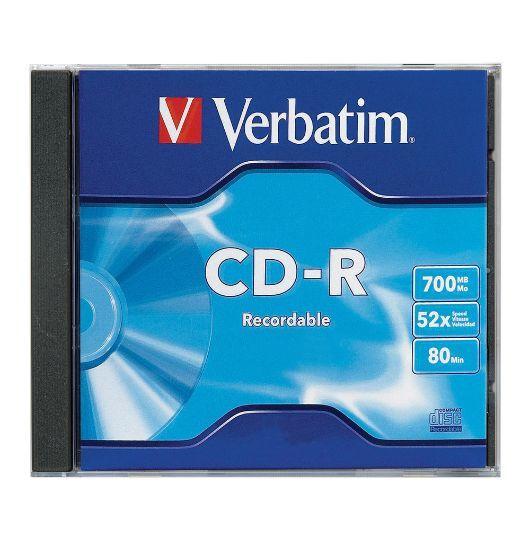 Verbatim CD-R 700MB Jewel Case 52x (1 Pack)
