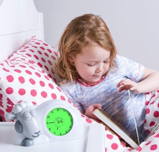 Zazu Sam the Sheep Sleep Trainer Clock - Pink image