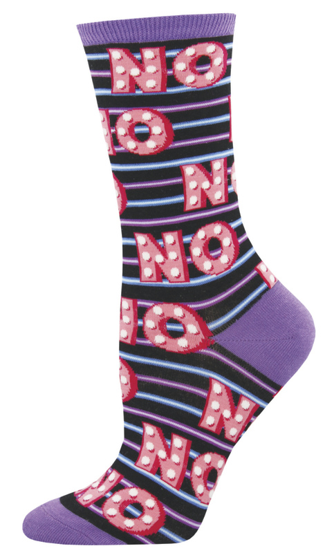 Socksmith: Women's No Crew Socks - Purple