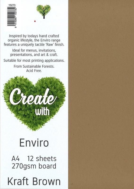 Enviro Board A4 270gsm - Kraft Brown (12 Pack)