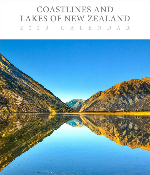Coastlines & Lakes of New Zealand 2020 Deluxe Wall Calendar