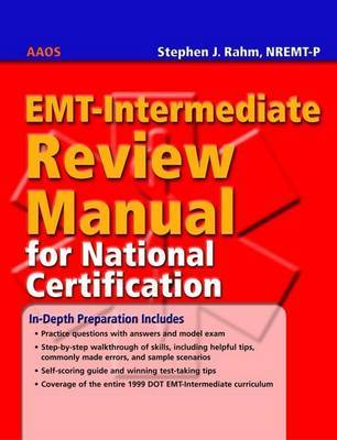 EMT Intermediate Review Manual for National Certification by Stephen J. Rahm image