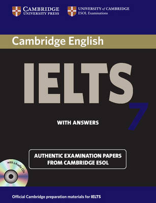 Cambridge IELTS 7 Self-study Pack (Student's Book with Answers and Audio CDs (2)): Examination Papers from University of Cambridge ESOL Examinations by Cambridge ESOL image