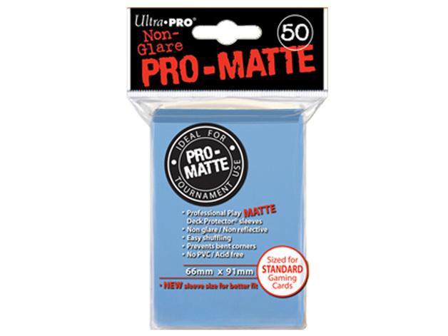 Ultra Pro Pro-Matte Standard Sleeves: Light Blue (50)