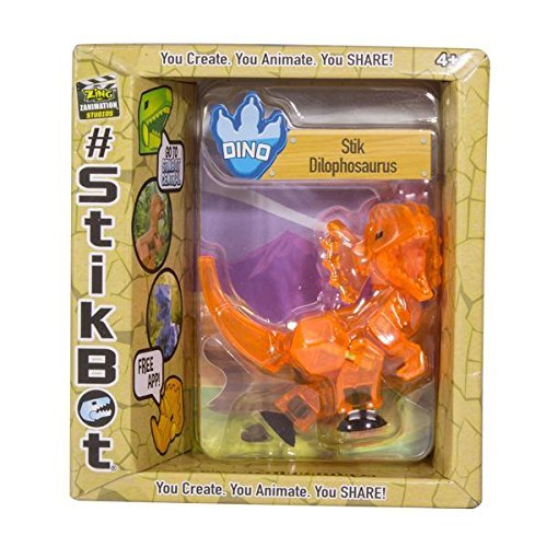 Stikbot: Dino Single - Dilophosaurus (Orange)