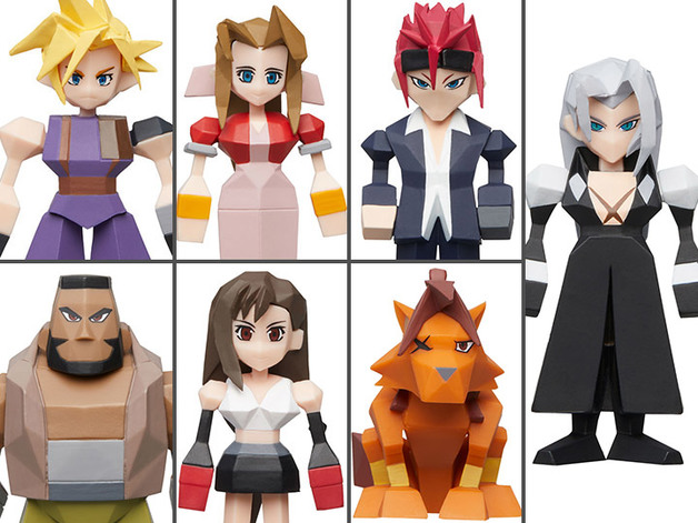 Final Fantasy VII - Polygon Figure Display (8-Pack)