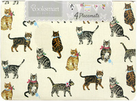 Cooksmart Pack of 4 Placemats - Cats On Parade