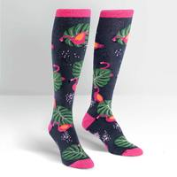 Womens - Flamingo Knee Socks