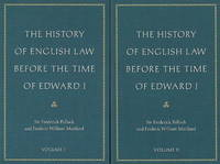 The History of English Law Before the Time of Edward I by Frederick Pollock image