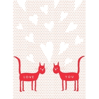 Carolyn Suzuki - Love Cats Greeting Card