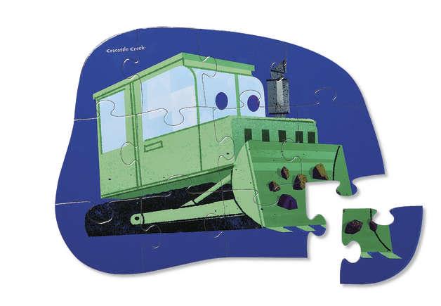 Crocodile Creek: Mini Shaped Puzzle - Little Bulldozer (12pc)