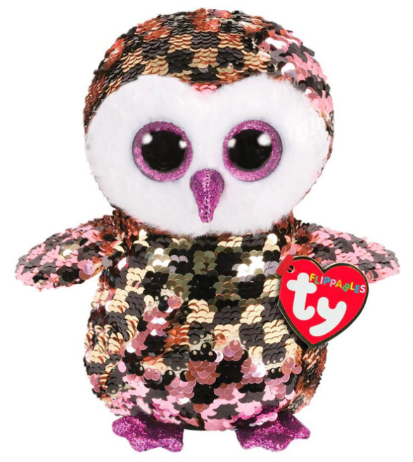 Ty Flippables: Checks Owl - Small Plush