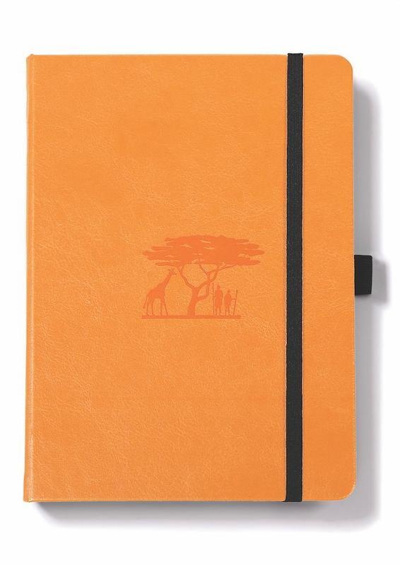 Dingbats Earth: A5 Tangerine Serengeti Notebook - Dotted