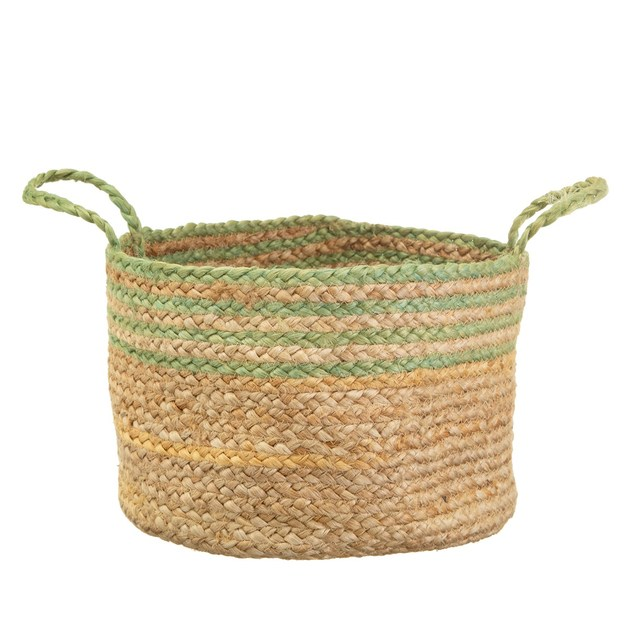 Sass & Belle: Green Stripe Jute Storage Basket