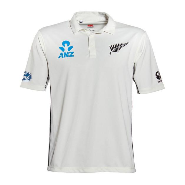 NZ Blackcaps Mens Replica Test Shirt (Small)