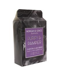 Morgan & Grace Face Pamper Packs - Purify & Pamper (Charcoal & Acai Berry)