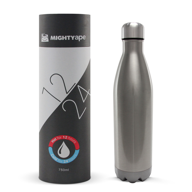Insulated Stainless Steel Bottle 750ml Gloss Stainless Steel