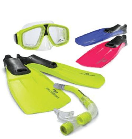 Land & Sea Adventure Mask/Snorkel/Fin Set - Small (Pink) image